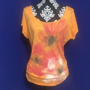 STYLE & CO. Bright Floral Print Top